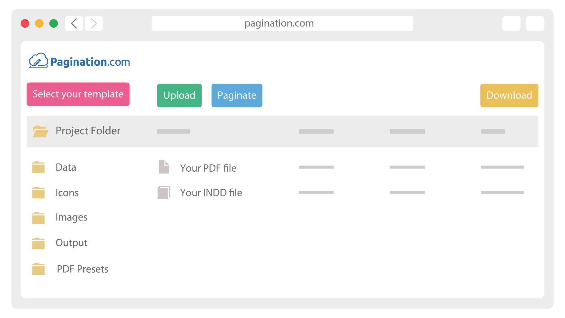 Software de publicación de bases de datos - Pagination.com