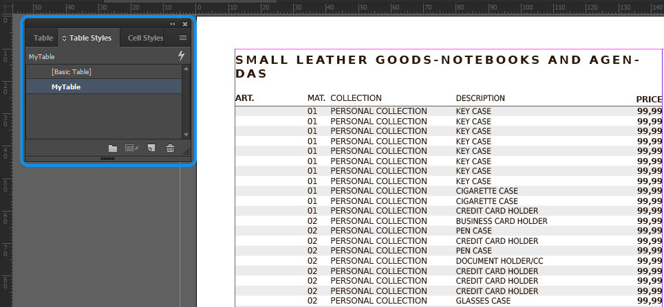 InDesign Place Command Tutorial: Create a Price List - Pagination.com