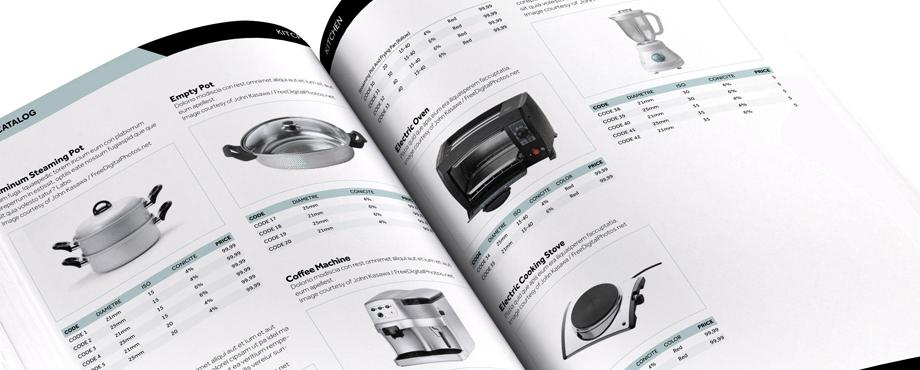 catalog template