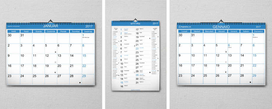 Free InDesign Calendar Template - Pagination