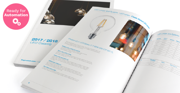 Image of a Led Catalog Design Template