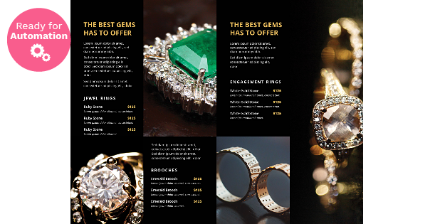 Image of a Dark Jewelry Catalog Template