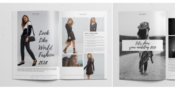 Clothing Catalog Template in InDesign format