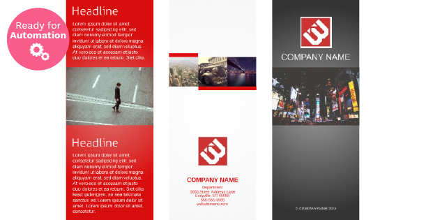 Image of a trifold brochure template