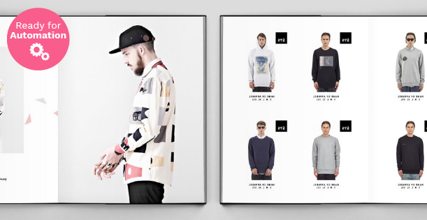 Fashion Image of a double page of Catalog Template InDesign