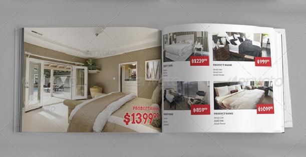 Image of a home design catalog template.