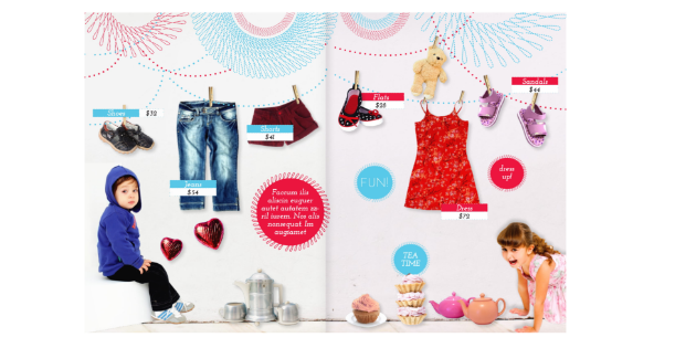 Kids Clothing Catalog Template