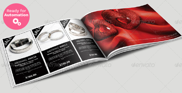 Image of a spread page of a jewellery catalog