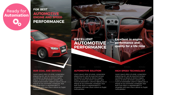 Image of a Trifold Automotive Brochure Template
