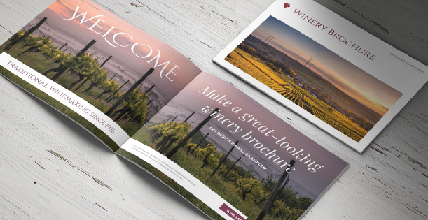 Image of a winery brochure template