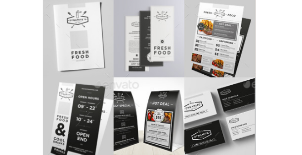 Indesign Restaurant Menu Template from pagination.com