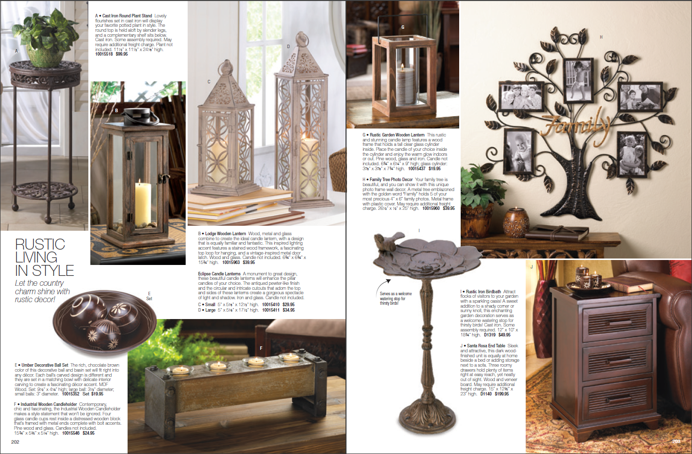 Home Decor Catalogs - A selection of 10 real catalogs of different