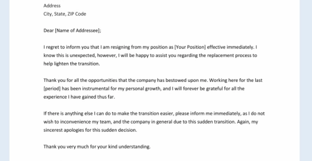 Word Template Resignation Letter from pagination.com